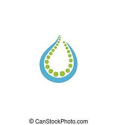 Water drop symbol  vector icon