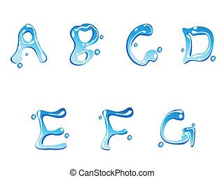 water drop type font - water drop of type font for design