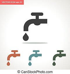 water drop vector icon isolated on white background