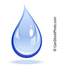 Water drop  - Vector illustration of a water drop