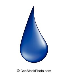 water drop vector symbol icon design. illustration isolated on white background