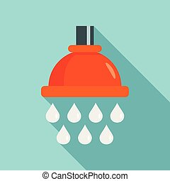 Water drop wash icon, flat style