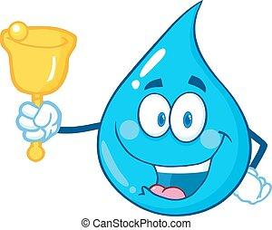 Water Drop Waving A Bell