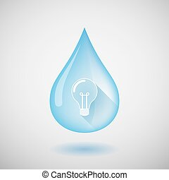 Water drop with a light bulb