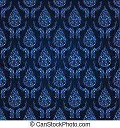 Water Drop with Hands Seamless Pattern