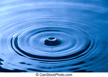 Water droplet - A drop of water creating ripples