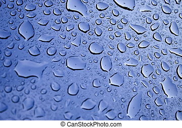 Water Droplets - A macro of some beautiful water droplets...