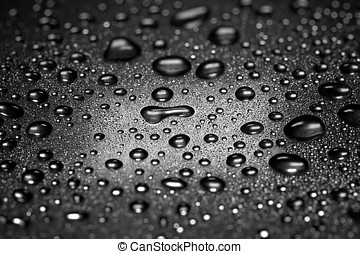 Water droplets , dramatic lighting , shallow depth of field