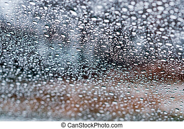 water droplets on a transparent background, water drops on glass