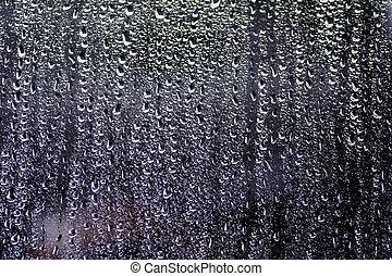 Water droplets on car window_02