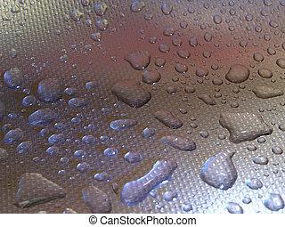 droplets on metal