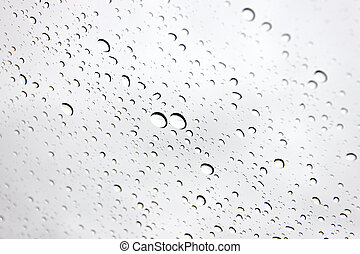 Water droplets on Windshield Car. - The Picture background...