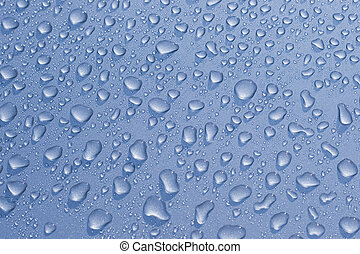 Water droplets on a car.