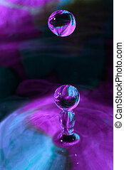 Water Droplets - Water droplets colliding with water