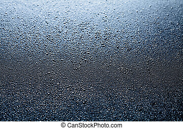 Water drops abstract dark background
