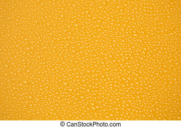 water-drops, giallo