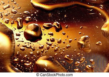 Water drops - gold - Water drops series