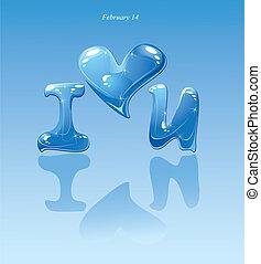 water drops - heart