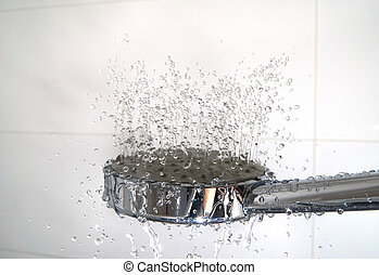 water drops in a shower