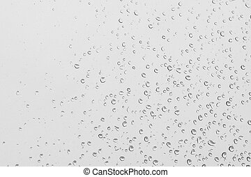 Water drops on a glass background