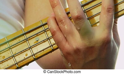 Water drops on a guitar