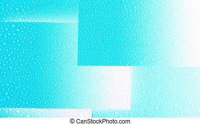 Water drops on blue box pattern