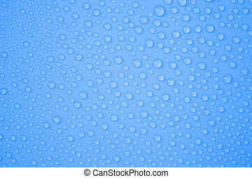 Water-drops on blue