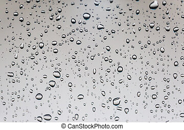 Water drops on glass.