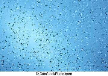 Water drops on glass window. XXL