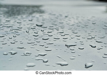 water drops on gray background