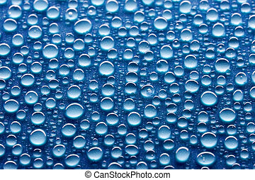 water drops on hydrophobic surface, close-up shot