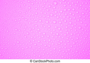 Water-drops on pink