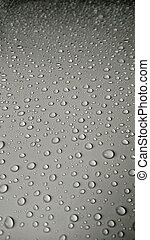 Water Drops On white Car background