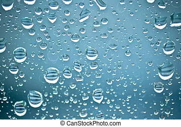 Water drops on window background