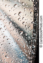 Water drops on window glass background.