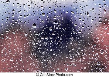 Water drops on window.
