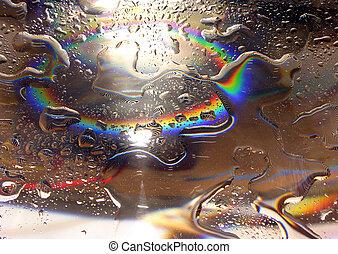 Water drops-rainbow3