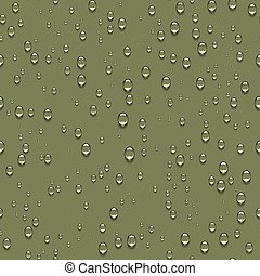 Water drops realistic seamless background.