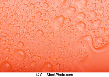 water drops red background