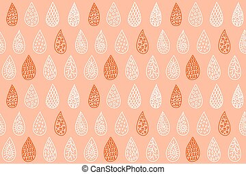 Water drops seamless pattern
