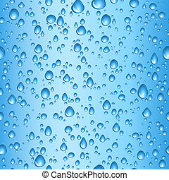 Water drops - Seamless tile background of blue water drops