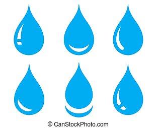 water drops set