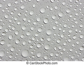 water drops on white background