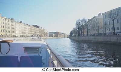 Water excursions along the rivers and canals of St. Petersburg.