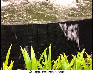 Water fall in the pool