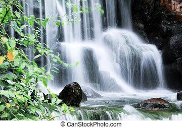 Water falls and cascades in Zhangjiajie National Park China