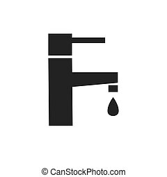 water faucet black icon