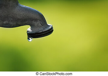 Water Faucet Dripping with a Leak