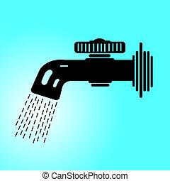 water faucet vector