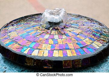 Water feature in Carmel